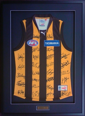 Hawthorn Football Jumper Picture Framng
