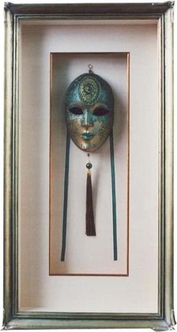 Framed Mask, set back with gold fillet